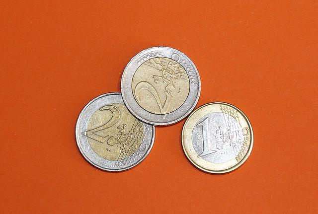 tři mince, euro centy